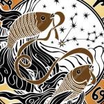 pesci ed il segno dello zodiaco cerchio